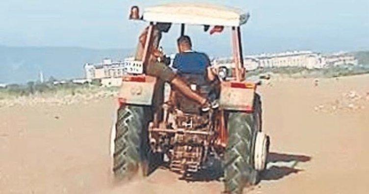Caretta yuvalarını traktörle ezdiler