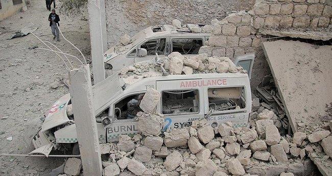 Suriye'de tıp merkezine saldırı