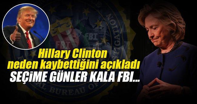 'FBI yüzünden kaybettim'