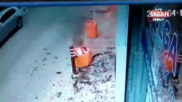 İş yerini, böyle kundakladı. Önce camı kırdı, sonra ateşe verdi | Video