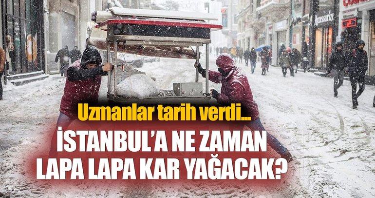 İstanbul'da lapa lapa karın ne zaman yağacağı açıklandı