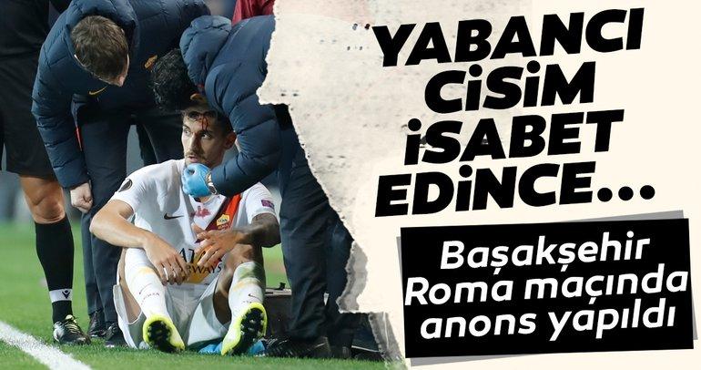 Başakşehir - Roma maçında anons yapıldı! Yabancı cisim Pellegri'nin başına gelince...