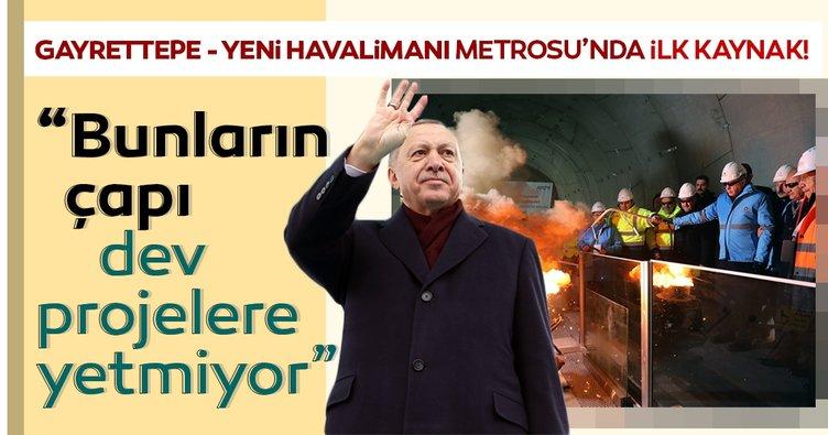 Başkan Erdoğan: Bunların çapı dev projelere yetmiyor