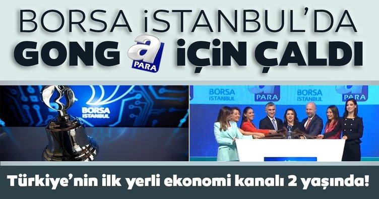 Türkiye'nin ilk yerli ekonomi kanalı 2 yaşında: Borsa İstanbul'da gong A Para için çaldı!