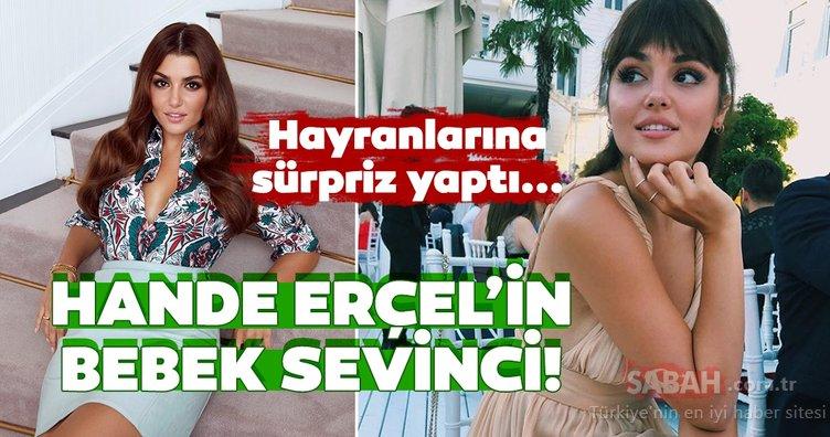 Ünlü oyuncu Hande Erçel'den hayranlarına sürpriz paylaşım! Hande Erçel'in kız kardeşi Gamze Erçel ile bebek sevinci...