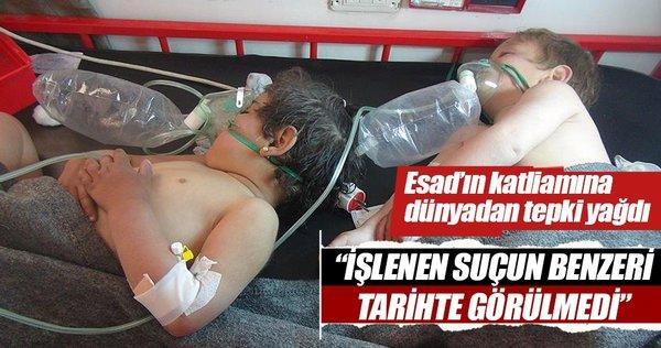 Esad rejiminin kimyasal silah saldırılarına dünyadan tepkiler