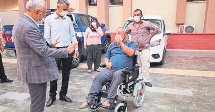 Tosyalı'dan engelli vatandaşlara akülü araç