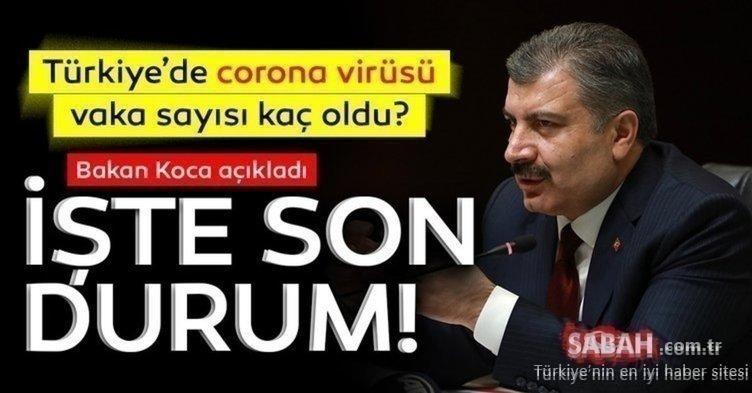 Sağlık Bakanlığı son dakika korona tablosu: Türkiye corona virüsü vaka sayısı kaç oldu? 8 Kasım 2020 Bugün Türkiye'de kaç vaka tespit edildi?