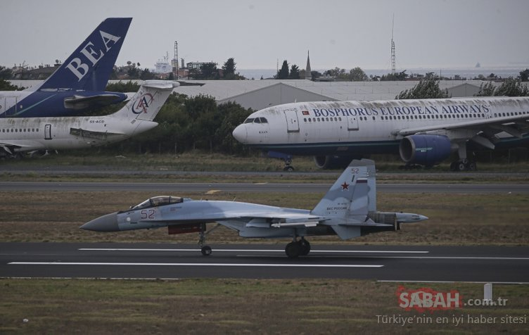 Rus uçağı Su-35 ve Be-200 İstanbul semalarında!