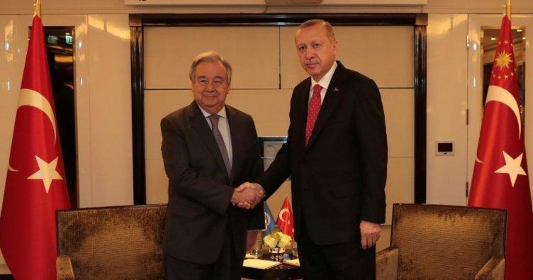 Son dakika: Başkan Erdoğan BM Genel Sekreteri ile görüştü