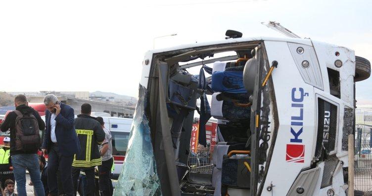 Son Dakika: Kayseri'de işçileri taşıyan midibüs...