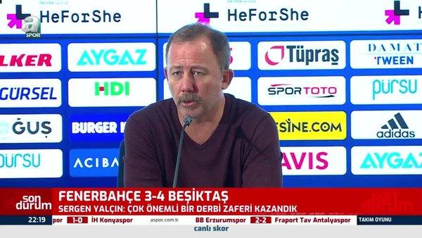 Sergen Yalçın: Hakem çok kötü maç yönetti