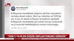 Hazine ve Maliye BakanıBerat Albayrak'tanenflasyondeğerlendirmesi