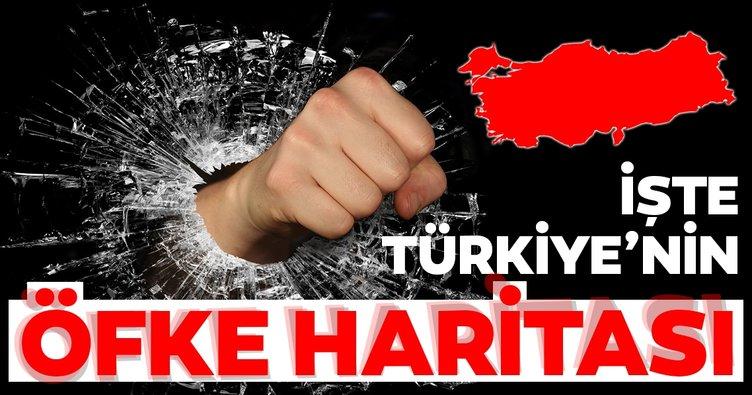 Türkiye'nin öfke haritası çıkarıldı