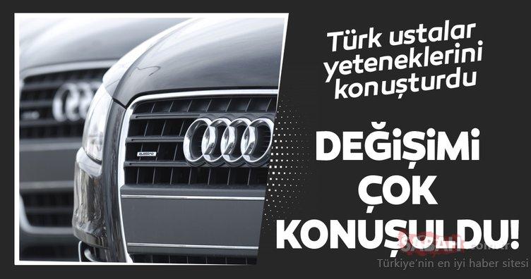 Türk ustalar yeteneğini konuşturdu! Eski model Audi A4'ü tepeden tırnağa yenilediler