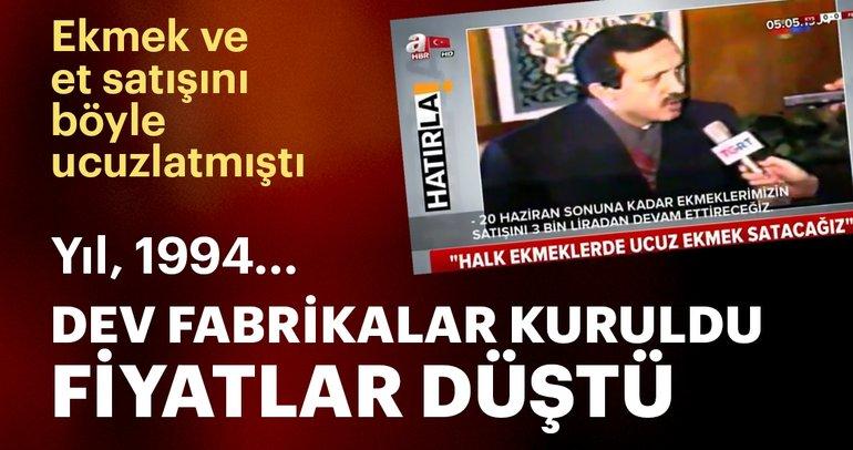 Başkan Erdoğan ekmek ve et satışını böyle ucuzlatmıştı