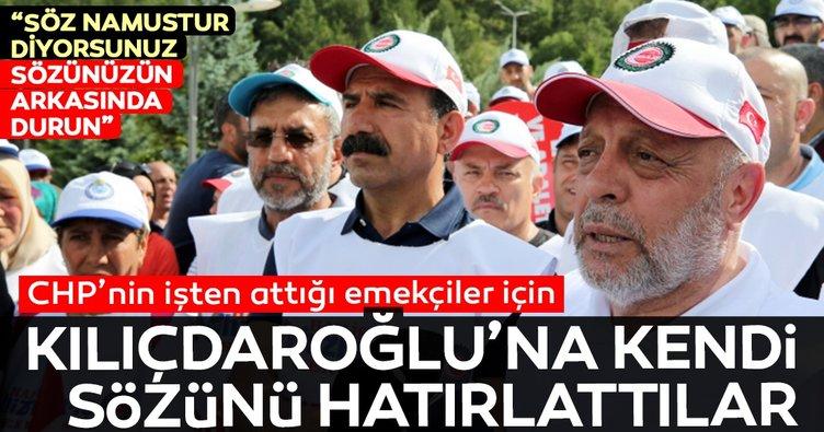 Hak-İş'ten Kılıçdaroğlu'na Söz namustur hatırlatması