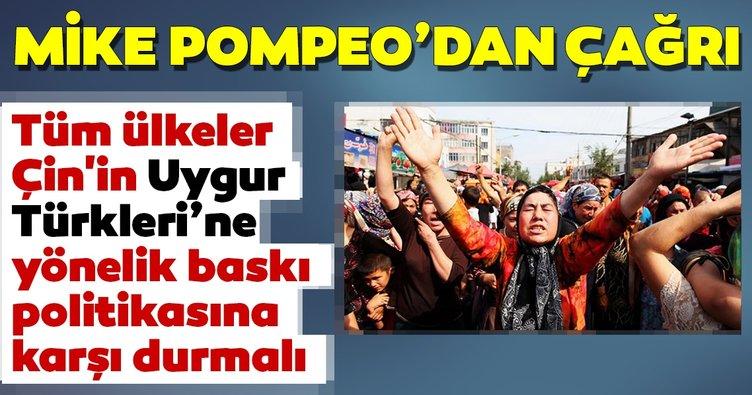 """Pompeo'dan dünyaya, Çin'in Uygur Türklerine baskısına """"karşı durma"""" çağrısı"""