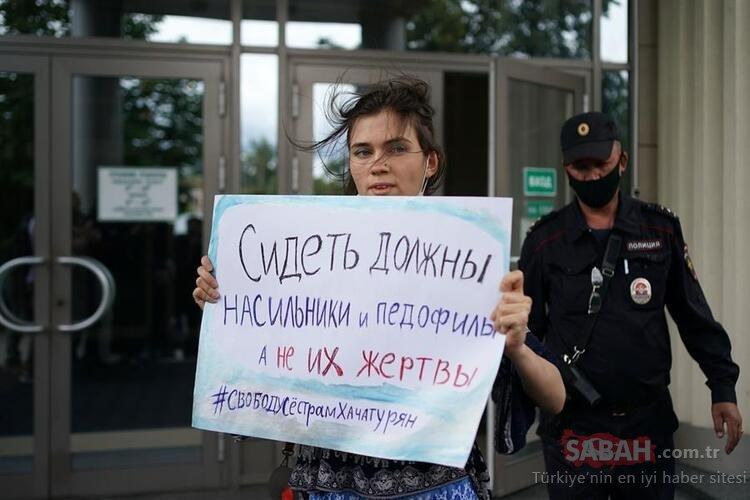 Rusya'dan dehşet verici son dakika haberi: Babalarını öldüren üç kız kardeş hakim karşısında!