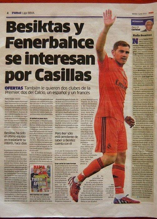 Beşiktaş ve Fenerbahçe, Casillas için kapışıyor!