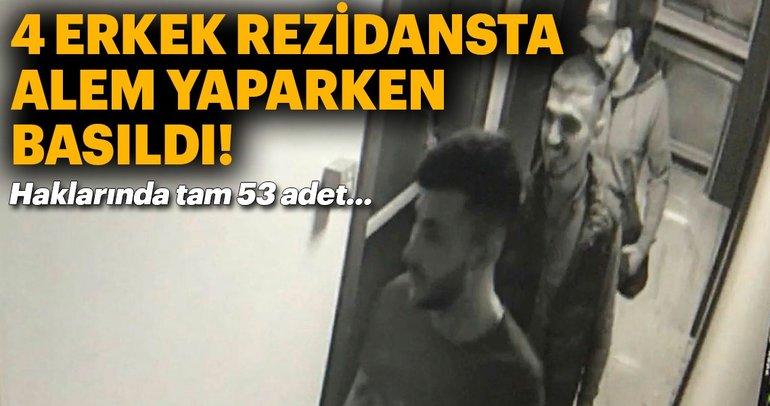 Hırsızlar, rezidansta eğlenirken basıldı!