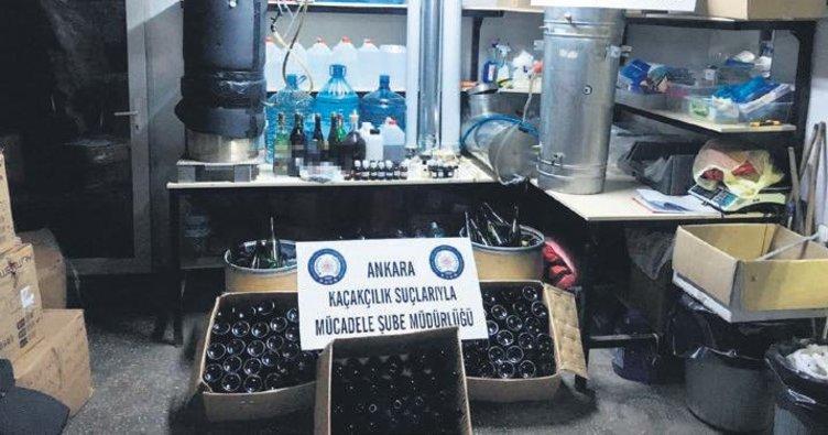 Sağlık malzemesi satan iş yerine 'sahte içki' operasyonu