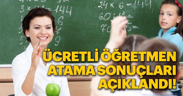 Son dakika haberi: Ücretli öğretmen atama sonuçları açıklandı! MEB sonuç sorgulama sayfası
