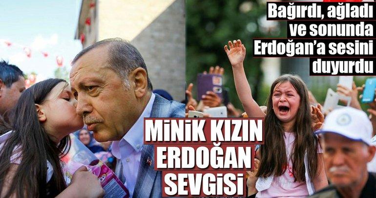 Minik kızın Erdoğan sevgisi