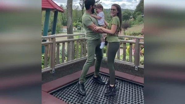 Ünlü Oyuncu Burak Özçivit'in eşi Fahriye Evcen ve oğlu Karan Özçivit ile çektiği video sosyal medyada ilgi gördü | Video