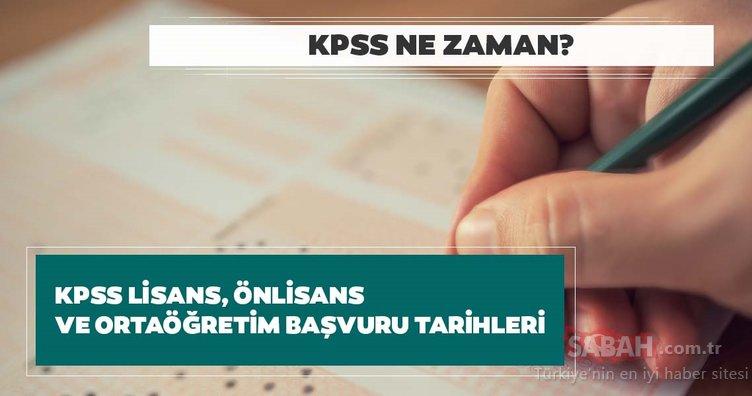 KPSS ne zaman? 2020 Ortaöğretim, Önlisans ve Lisans KPSS başvuruları başladı mı?