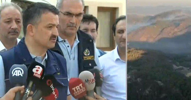 Bakan Pakdemirli'den, Muğla'daki orman yangını ile ilgili önemli açıklamalar