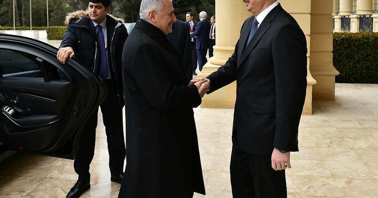 Başbakan Yıldırım, Aliyev ile görüştü