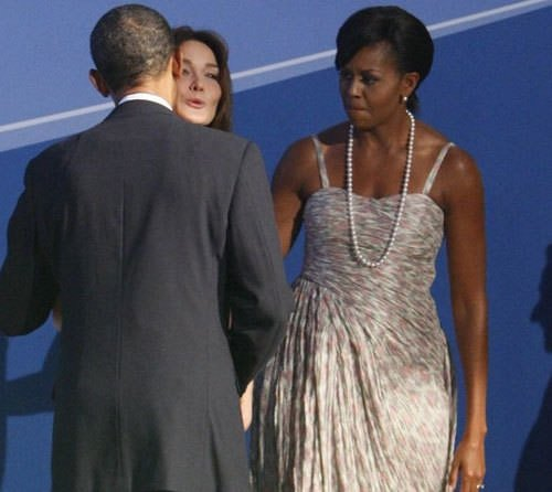 Obamalar kapıda karşıladı