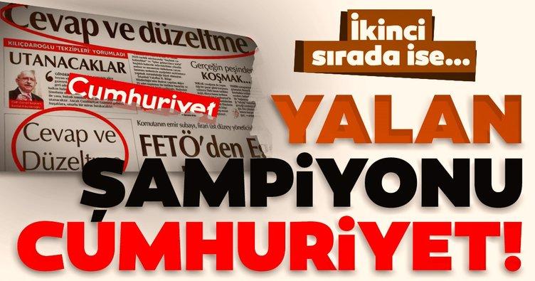 Yalan haberin şampiyonu Cumhuriyet