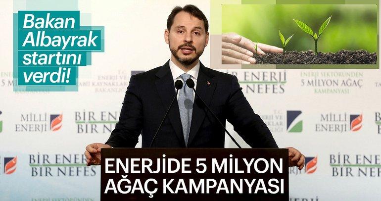 Bakan Berat Albayrak: 2018 yılında toplam 5 milyon ağacı geçeceğiz