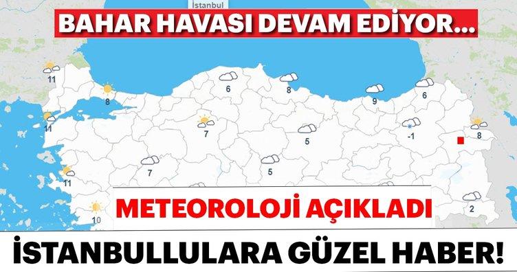 Meteoroloji'den son dakika uyarısı: İstanbullulara güzel haber, bahar havası devam edecek!