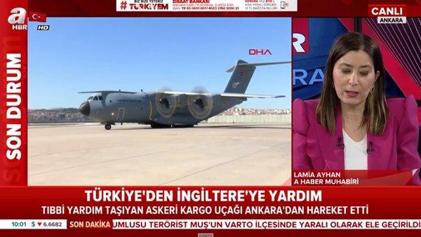 Türkiye'den İngiltere'ye yardım uçağı