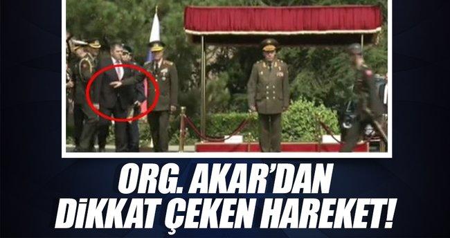 Genelkurmay Başkanı Akar'dan dikkat çeken hareket