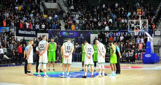 TOFAŞ - Joventut Badalona maçında Kobe Bryant için saygı duruşu