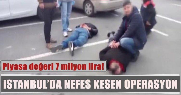 İstanbul'un göbeğinde büyük uyuşturucu operasyonu