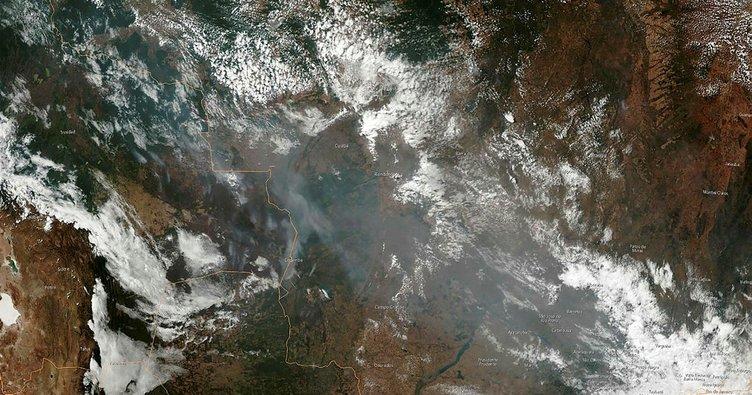 NASA, Amazon yangınlarını uzaydan görüntüledi!