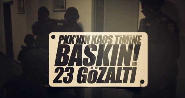 SON DAKİKA: İstanbul'da PKK'nın kaos timine darbe!