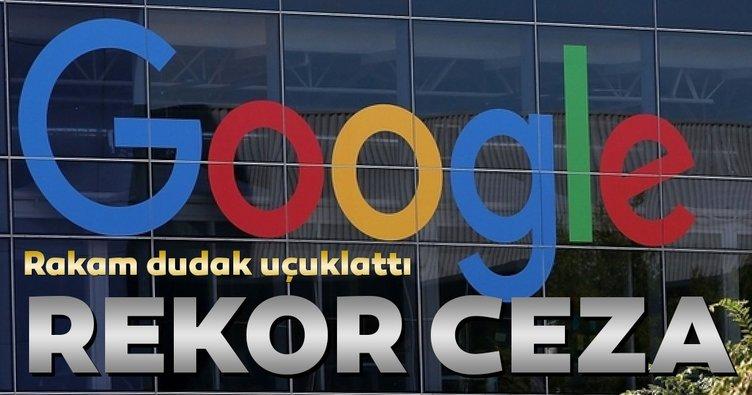 Google'a rekor ceza... 965 milyon avro ödeyecek