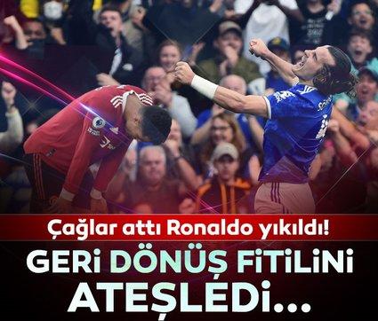 Son dakika: Çağlar Söyüncü attı Cristiano Ronaldo yıkıldı! İngilizler milli oyuncunun golüne çıldırdı...