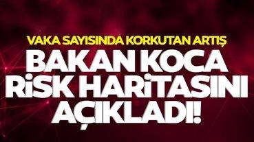 Türkiye korona risk haritası Nisan 2021: Sağlık Bakanı Fahrettin Koca illere göre koronavirüs risk haritasını paylaştı