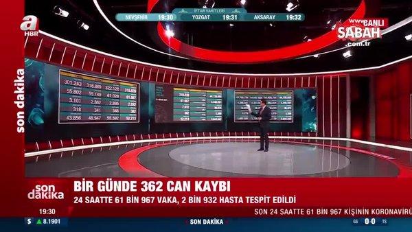 SON DAKİKA! 21 Nisan Türkiye'de koronavirüs vaka ve vefat sayıları açıklandı! | Video