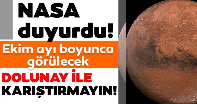 Son dakika haberleri: NASA duyurdu | Ekim ayı boyunca görülecek!  Dolunay ile karıştırmayın...