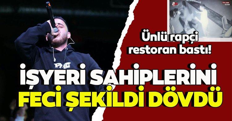 Ünlü rapçi Atilla Serin Ati242 restoran bastı! İşyeri sahiplerini feci şekildi dövdü