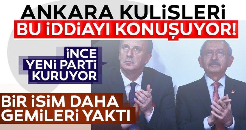 Son dakika! Ankara kulisleri bu iddia ile çalkalanıyor! Muharrem İnce yeni parti kuruyor...
