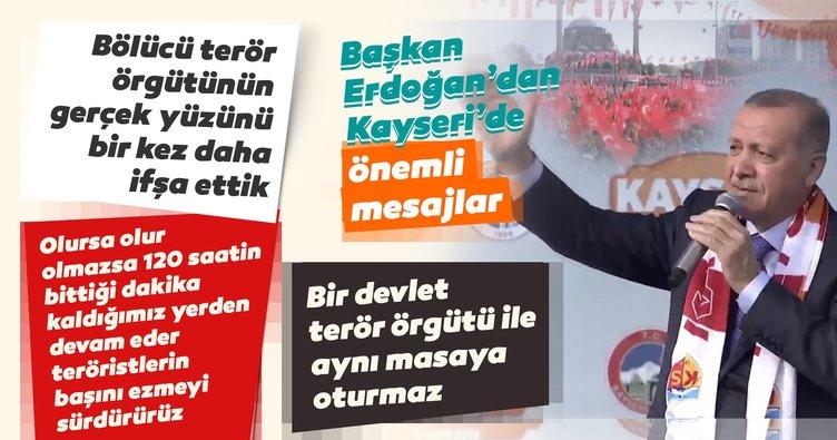 Başkan Erdoğan: 120 saatin bittiği dakika kaldığımız yerden devam ederiz